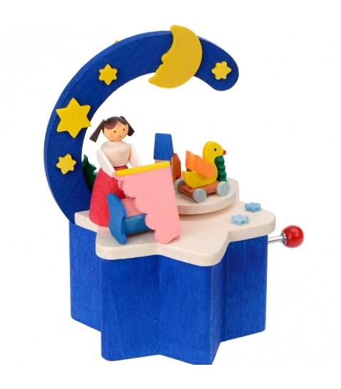Boite musique manivelle enfant dans sa chambre for Chambre d enfant bleu