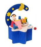 Boite à musique à manivelle bleu, chambre d'enfant