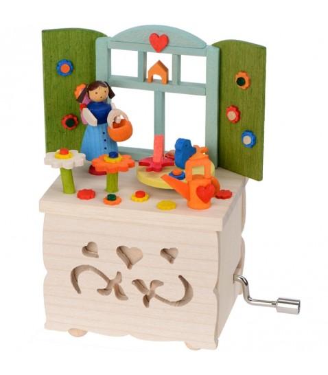 boite musique enfant manivelle elfe dans sa cuisine. Black Bedroom Furniture Sets. Home Design Ideas