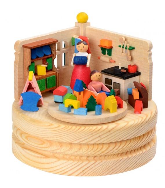 Boite à musique en bois, jeu d'enfant