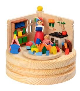 Boite à musique en bois, jeux d'enfant
