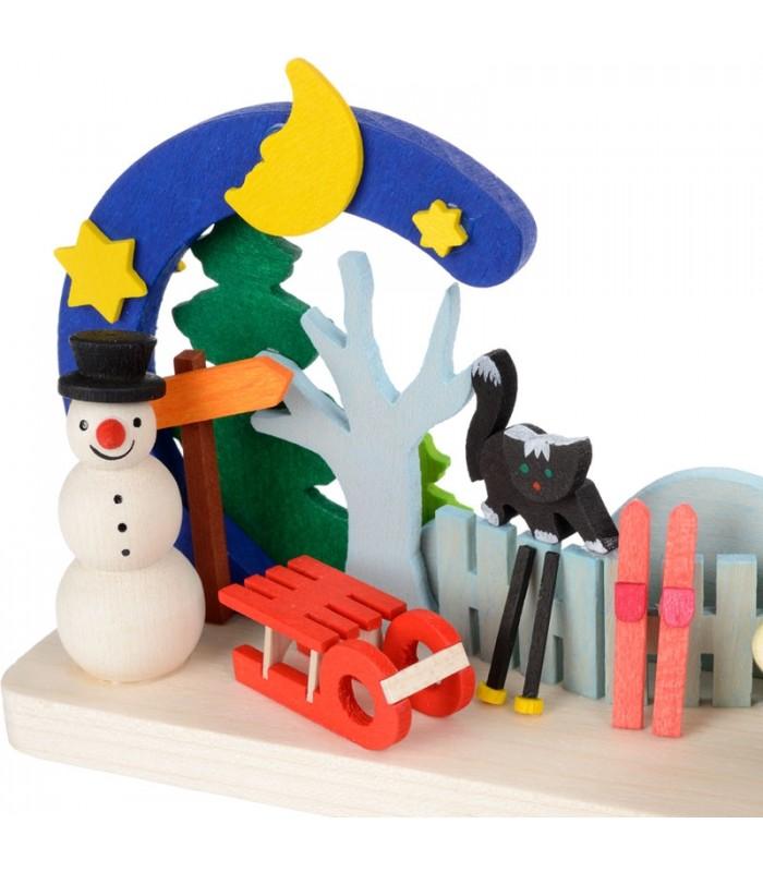 bougeoir de no l bonhomme de neige. Black Bedroom Furniture Sets. Home Design Ideas