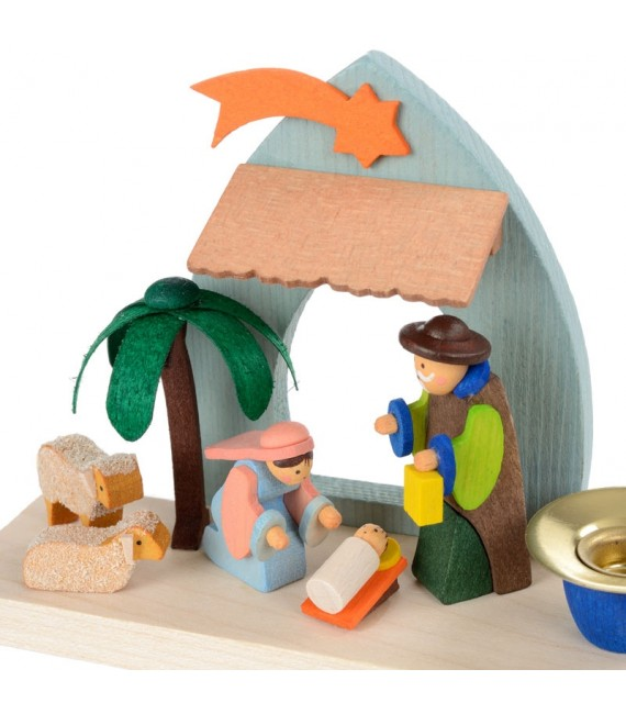 Crèche de Noel pour enfant dans un petit bougeoir