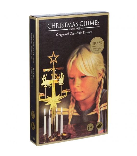 Carillon suésois père Noël couleur doré