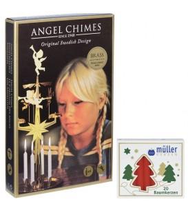 Kit Carillon des Anges DORÉ + bougies
