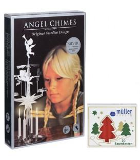 Kit Carillon des Anges ARGENTÉ + bougies