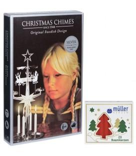 Kit Carillon Père Noël ARGENTÉ + bougies