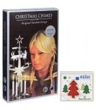 Kit Carillon père Noël argenté + bougies rouges