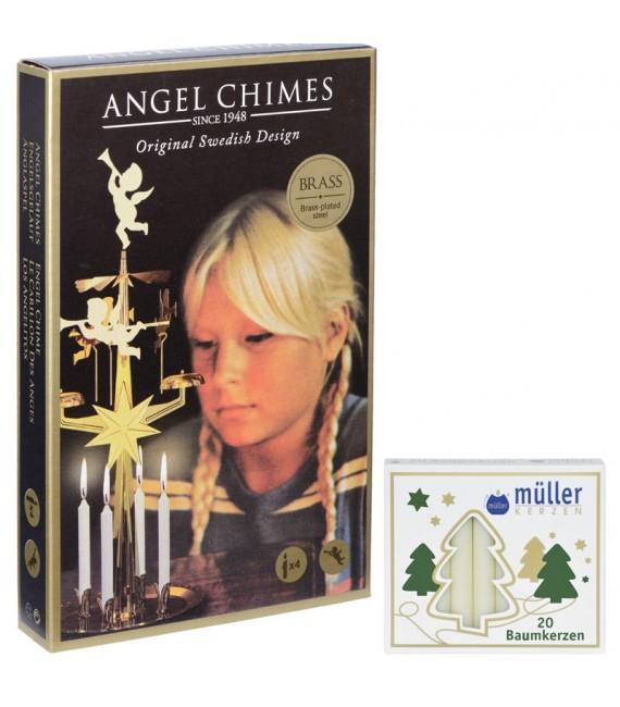 Bougies couleur crème pour carillons des anges