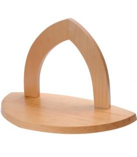 Crèche de Noël vide à fabriquer en bois, 20 cm