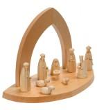 Creche de Noel en bois à fabriquer