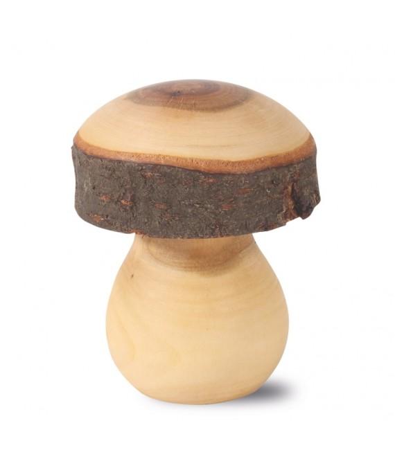 Champignon bois sculpté, 8 cm