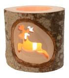 Photophores motifs en bois ciselé, renne