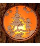 Photophores en écorce de bois