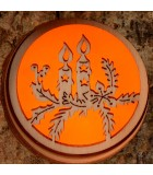 Photophore en écorce de bois bougies de Noel