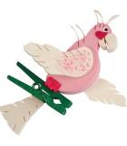 Perroquet en bois à clipser n° 3
