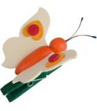 Papillon en bois à clipser n° 5 orange