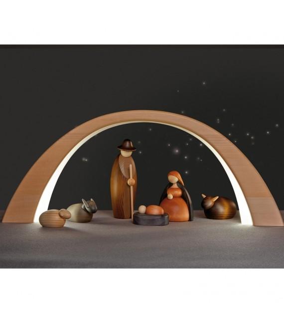 Arche lumineuse en bois à éclairage led