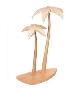 2 palmiers en bois pour décoration crèche de Noël