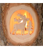 Lanterne bois, cerf