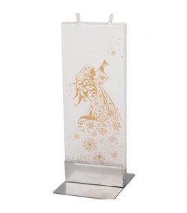 Ange de Noël sur bougie décorative