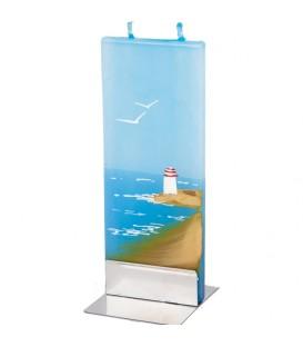 Décoration marine, bougie bord de mer et phare