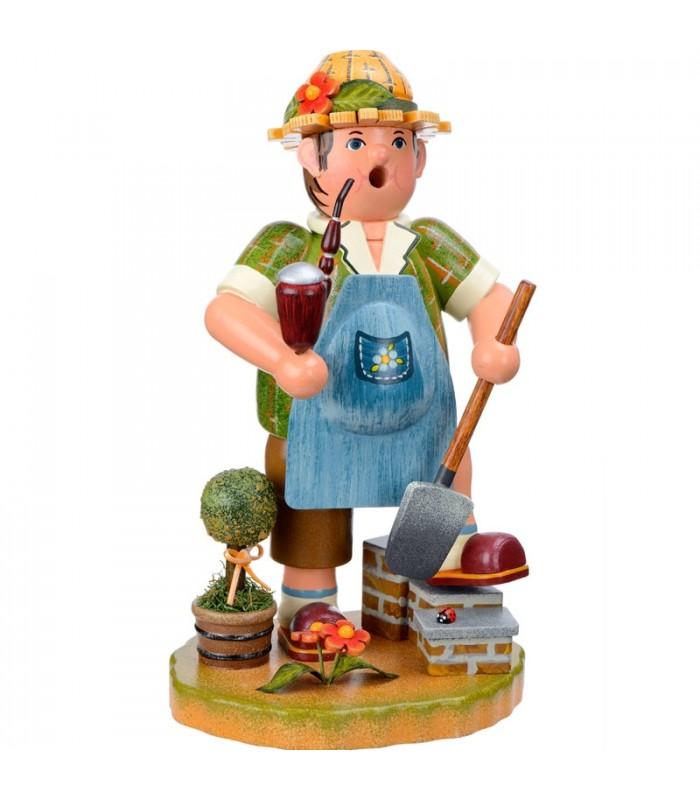 Personnage porte encens en bois jardinier brule parfum for Personnage decoration jardin