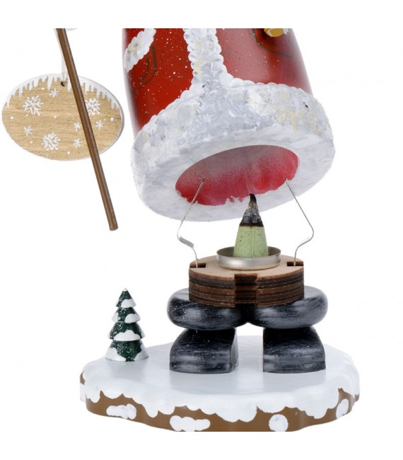Personnage brûle-encens Père Noël
