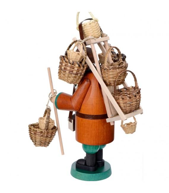 Personnage brûle-encens vendeur de paniers