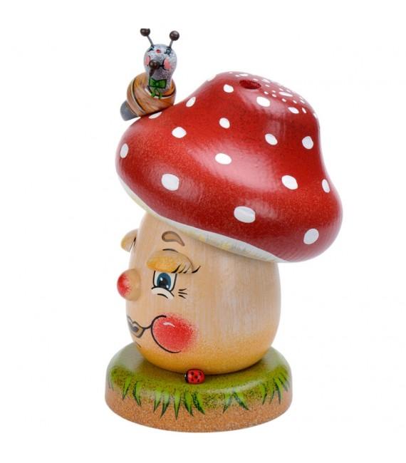 Personnage brûle-encens champignon joyeux