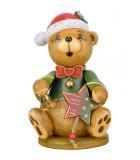 Grand ourson de Noël brûle-encens 22 cm