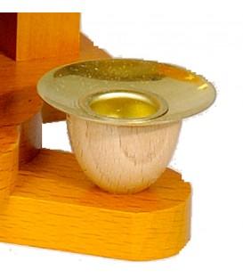 Bougeoir de rechange en laiton pour pyramide à bougies 14 mm