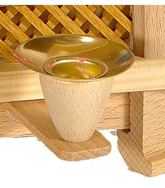 Bougeoir de rechange en laiton pour pyramide à bougies 17 mm