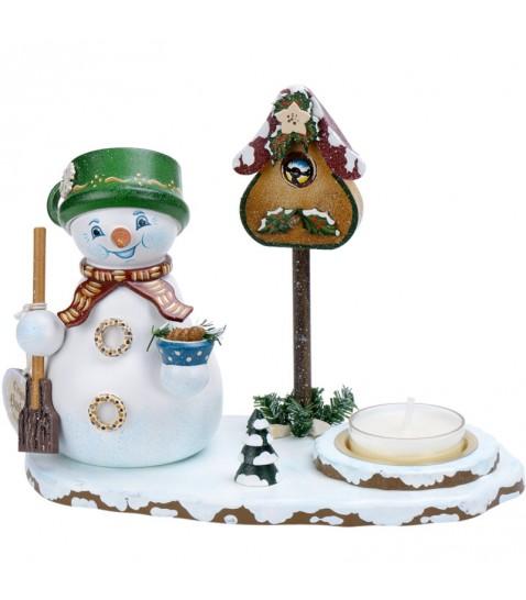 Brule parfum bois bonhomme de neige porte encens avec bougie for Decoration porte bonhomme de neige