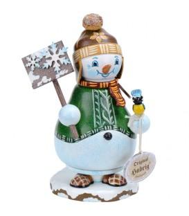 Personnage porte encens bonhomme de neige