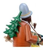 Personnage brûle-encens vendeur de déco de Noël