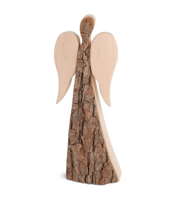 Grand ange de Noël en bois, double face 24 cm