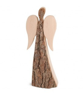 Grand ange de Noël en bois, double face 24 cm
