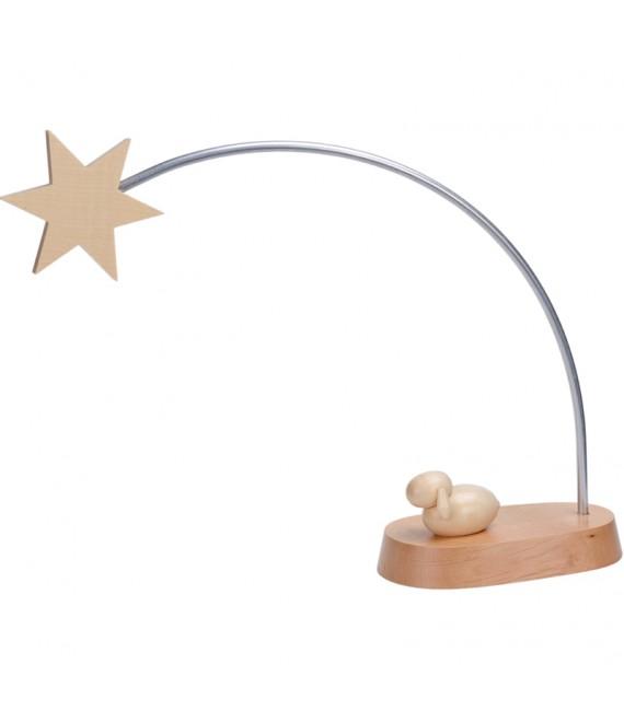 Crèche lumineuse avec étoile