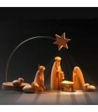 Etoile de Noël électrique à LED sur socle, 21 cm