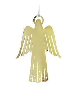 Ange doré design en métal à suspendre
