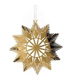 Etoile design en métal doré à accrocher