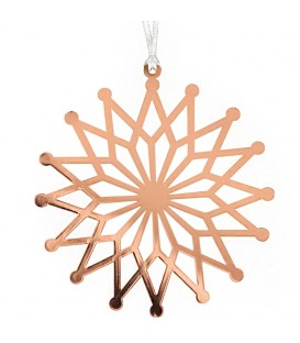 Etoile cuivre motif fleur à accrocher