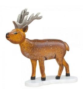 Village de Noël miniature, figurine enfant cerf