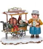 Village de Noël miniature, vendeuse de vin chaud