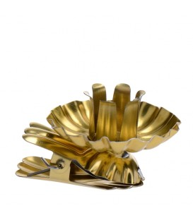 "Pince à bougie pour sapin en métal doré ""Baumkerzenhalter"""
