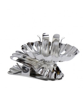 """Pince porte-bougie pour sapin en métal ARGENTÉ """"Baumkerzenhalter"""""""