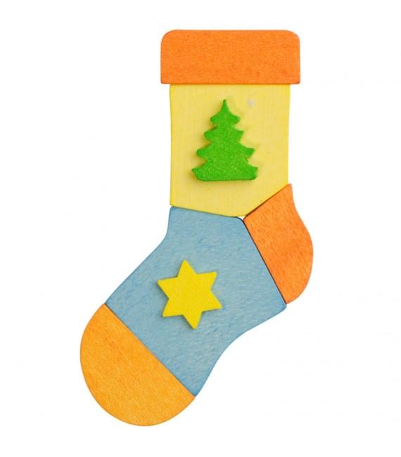 3 chaussettes de Noël à suspendre au sapin, lot 1