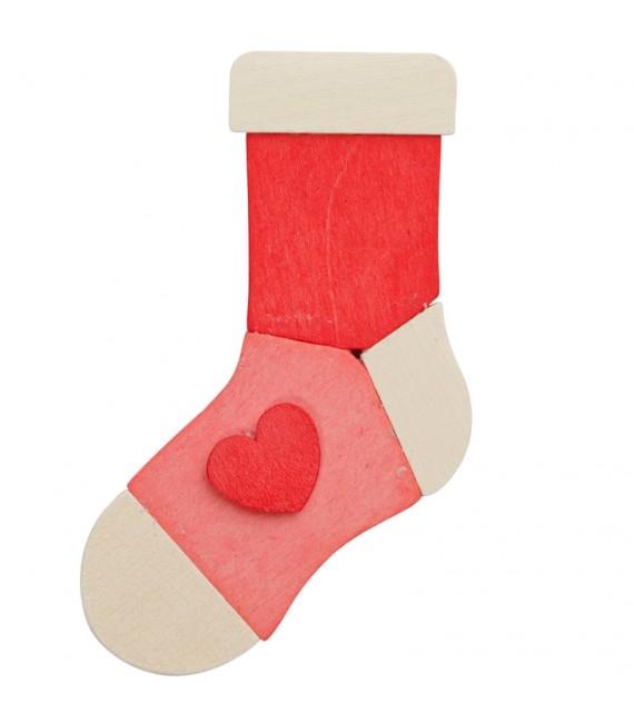 3 chaussettes de Noël à suspendre au sapin, lot 2