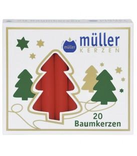 Lot -50% 100 bougies de Noël, Baumkerzen 12 mm rouge, blanche ou champagne